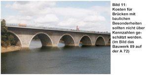 Kostenkennzahlen nur für Standardbrücken einsetzen