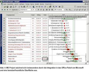 Störnachweis mit MS Project