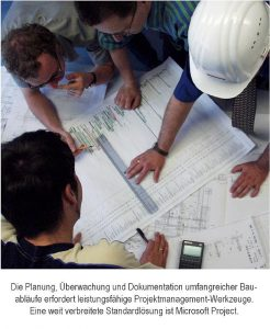 Bauablaufplanung mit MS Project ist Teamarbeit