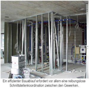 Bauablaufplanung den vor allem der Schnittstellenkoordination