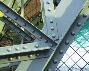 Stahltragwerk der Bahnhofshalle nach der Sanierung